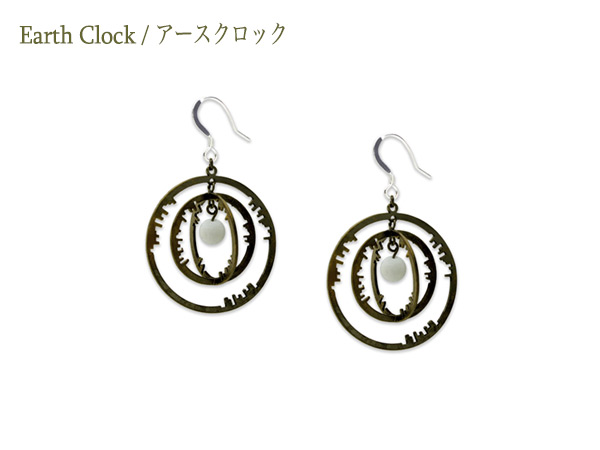 Earth Clock Earring 01 Cross
