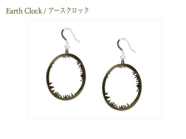 Earth Clock Earring2LR