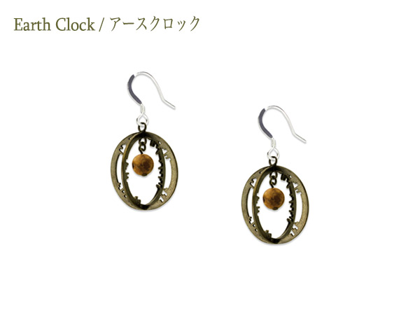 Earth Clock Earring Cross