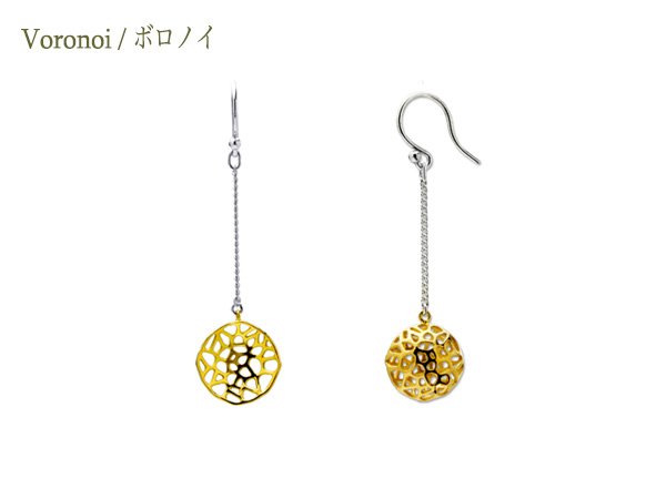 Voronoi Earring 03R-ch 03RB-ch
